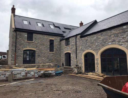Chamfered cast stone arched window / door surrounds and more for large detached new build – Baltonsborough
