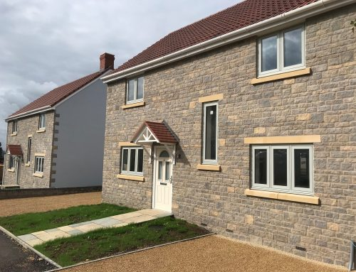 Faced stone units for range of new build properties – Ashcott, Somerset