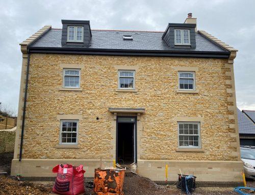 Bath stone faced units supplied for impressive new build properties – Sherborne, Dorset