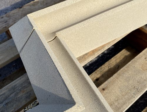 Cast stone label moulding units by KM Cast Stone Ltd