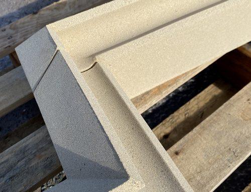 Cast stone label moulding units by KM Cast Stone Ltd